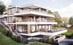 Lerch und Partner AG + CSL Immobilien AG Schwizerberg - Uster 3d Modellierung, Modern, Mansions, House Styles, Home Decor, Real Estates, Architecture, Photo Illustration, Trendy Tree