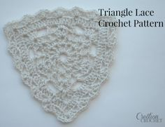 Triangle lace crochet pattern. I'll be using this pattern to make trivets for my kitchen. It would also make a great bunting.