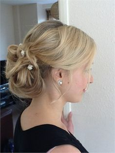 Vintage up do for a bride or bridesmaids. Particularly beautiful for a country wedding.