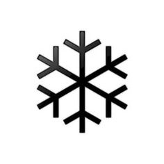 Simple Snowflake Silhouette Snow-Flakes.png (2480&...