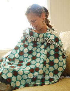 ruffled breastfeeding nursing cover up