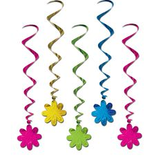 Flower Whirls 5 Pk Party Supplies Canada - Open A Party