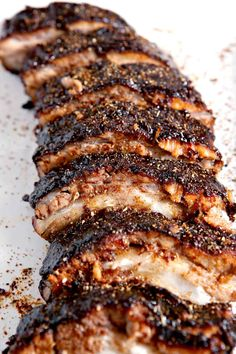 These Memphis-Style Barbecue Ribs are PERFECT for any summer get-together. Seasoned with homemade barbecue dry rub, these ribs cook low and slow for hours before finishing on the grill or in the broiler. Homemade Barbecue Sauce, Barbecue Recipes, Grilling Recipes, Cooking Recipes, Cooking Ribs, Smoker Recipes, Ribs On Grill, Beef Ribs, Barbecue Sides