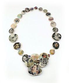 LAURA DEAKIN-AUSTRALIA/DE Necklace: Taken 2013 Polyester resin, 925 silver, newspaper pigment