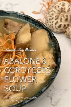 This is a Chinese style soup using abalone and cordyceps flower as main ingredients. It is very nutritious, delicious and easy to make! This is a great soup that you could easily make at home. It is an authentic Chinese cuisine recipe with simplified steps and ingredients required! Check out our website where could you find the written step by step recipes with images and videos to teach you how to become a better cook at home! Fun Cooking, Cooking Recipes, Easy Dinner Recipes, Easy Meals, Good Food, Yummy Food, Cook At Home, World Recipes, Amazing Recipes