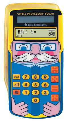 Shop for Texas Ti-little Professor Solar Ti-little Professor Education Calculator Yellow. Starting from Choose from the 3 best options & compare live & historic calculator prices. Texas, Solar Calculator, Instruments, Thing 1, Basic Math, Printer Scanner, School Organization, Educational Technology, School Supplies