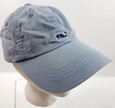 0c00dab24ba Vineyard Vines Denim Blue Baseball Hat Cap Whale Logo Adjustable Womens  Mens  VineyardVines  BaseballHat