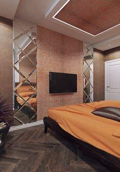 Спальня. Дизайн квартиры в ЖК «Новая Династия»