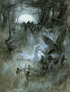 Court of Faerie by Thomas Maybank 1906 Alphonse Mucha, Dark Fairytale, Photocollage, Nature Aesthetic, Forest Fairy, Fairy Art, Pretty Art, Art Plastique, Faeries
