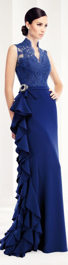 Patricia Avendano | This BLUE is stunning! And I love a flounce!
