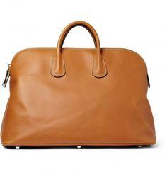 Valextra Men Leather Holdall Bag 1
