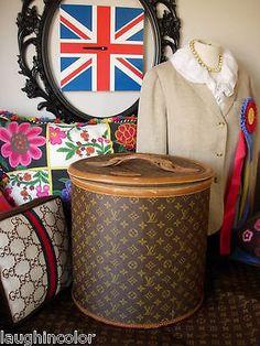 92105c8048b Ultra RARE Vintage LOUIS VUITTON FC Suitcase Luggage Tote CarryOn Hat Box LV  Louis Vuitton Hat