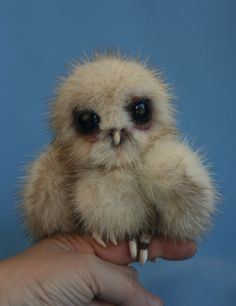 Aleta recycled mink fur baby owl owlet    Talented artist!