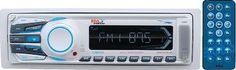 BOSS AUDIO MR1306UA Marine Single-DIN MECH-LESS Receiver, Detachable Front P...