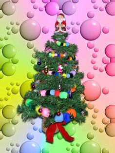 Ponpon Christmas tree