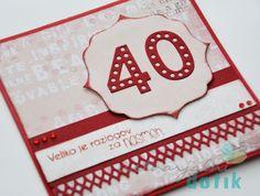 40 years, red, memory box, greetings, card, čestitka, voščilnica, rdeča, Ustvarjalni dotik, 40 let