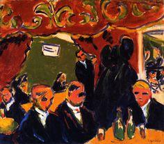 Wine Bar (Ernst Ludwig Kirchner - 1909)
