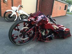 Awesome bagger with our customized dirty hooker wheel and silencer accessory…