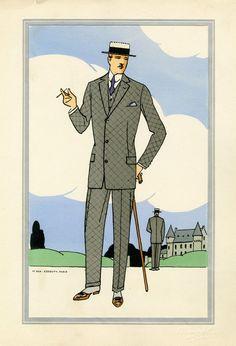 Antique 1920s men's fashion illustrations 8