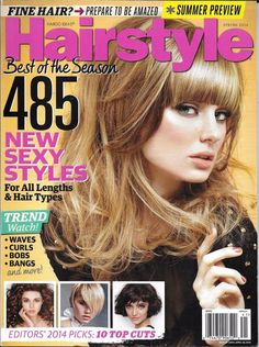 Hairstyle magazine Sexy styles All hair lengths Waves Curls Bobs Bans Summer