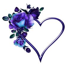 Purple Heart and Rose