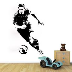 A038 football star wall stickers For boys bedroom decorative Vinyl wall decal for kids room decoration