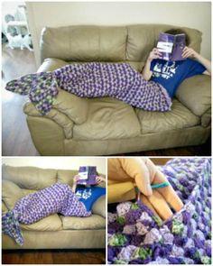 Crochet Adult Sized Mermaid Lapghan Tail Pattern - Crochet Mermaid Tail Patterns - 30 Free Crochet Patterns - DIY & Crafts