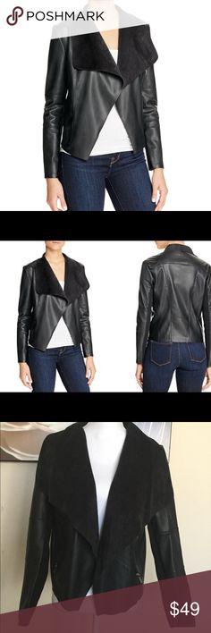 NWT faux leather drape jacket NWT faux leather drape jacket. Size medium. Bundle and save 💰 bagatelle Jackets & Coats