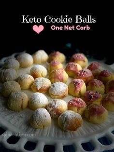 Keto RIcotta Cookies made with coconut flour. Can be rolled in Swerve confectioner's or unsweetened cranberry juice glaze. Keto RIcotta Cookies made with coconut flour. Can be rolled in Swerve confectioner's or unsweetened cranberry juice glaze. New Year's Desserts, Low Carb Desserts, Low Carb Recipes, Dessert Recipes, Diabetic Recipes, Dessert Ideas, Cookie Recipes, Snack Recipes, Dessert Bars
