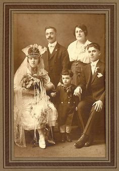 """1920s Gypsy (?) Bride & Family Members"" by Sunny Brooke 
