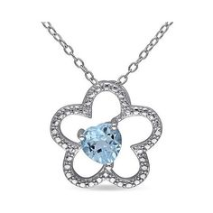 CT. T.. Sky Blue Topaz Pendant Necklace in Sterling Silver, Women's ($40) ❤ liked on Polyvore featuring jewelry, necklaces, blue topaz, blue topaz pendant necklace, pendant necklace, blue topaz jewelry, fine jewelry and sterling silver necklace
