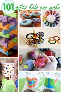 GIGANTIC list of 101 homemade gifts for kids - seriously tons of great ideas here.