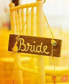 wood weddding sign
