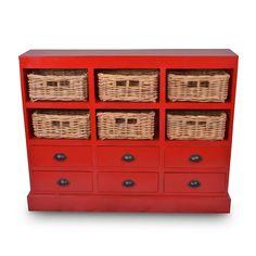 Nantucket Storage Cabinet - Antique Red