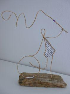 Petite gymnaste - figurine en ficelle et papier : Accessoires de maison par ficelleetpapier