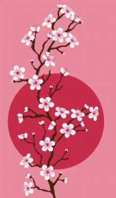 Blossom. Free cross stitch pattern