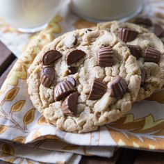 Giant Reese's Peanut Butter Cookies - Wonder if you could use oat flour or rolled oats and LC sweeteners to try and lower the sugar/crab count...?