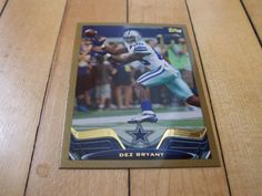 2013 Topps #375 DEZ BRYANT Gold Border Parallel Card Numbered /2013 Cowboys Mint