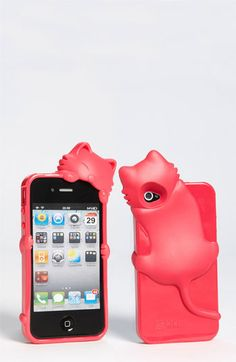 Cara Couture 'Peeking Cat' iPhone 4 & Case available at Nordstrom Cool Iphone Cases, Ipod Cases, Best Iphone, Cute Phone Cases, Iphone 4s, Apple Iphone, Iphone Accessories, Pet Accessories, Kawaii