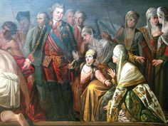 Count Orlov after Cesme battle by anonymous (18th c, GTG) detail.