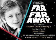 Star Wars Princess Leia Light Saber Birthday Party Invitation