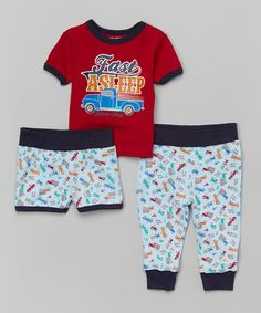 Loving this Red 'Fast Asleep' Pajama Set - Infant & Toddler on #zulily! #zulilyfinds