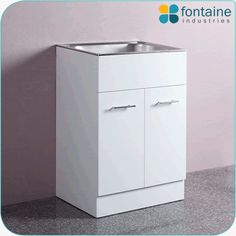 Set laundry sinks with all types of kitchen vanities. We provide stylist and all size of laundry sinks in affordable price. Visit http://fontaineind.com.au/product/troughs/lotus-laundry-trough/ for more information!!