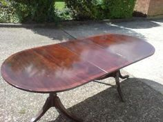 REGENCY HARDWOOD TABLE AND 6 CHAIRS Ealing Picture 1