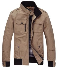 Wantdo Men's Casual Jackets & Outwear Dark Khaki JK02 US Large