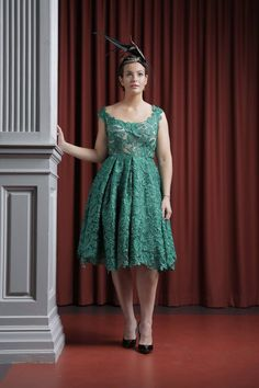 lace green dress  Can be worn as a guest or bridesmaid??  www.ThingsIAdore.com