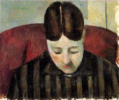 Paul Cézanne ~ Portrait of Madame Cézanne, c.1877
