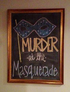 I sooo have got to do this! Masquerade Ball Costume, Masquerade Theme, Halloween Masquerade, Holloween Party Ideas, Adult Halloween Party, Halloween Chalkboard, Chalkboard Art, 40th Birthday, Birthday Ideas