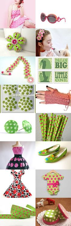 Let's Polka (Dot)! by Nancy on Etsy--Pinned with TreasuryPin.com