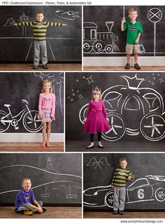 Chalkboard Expressions: Planes, Trains, and Automobiles
